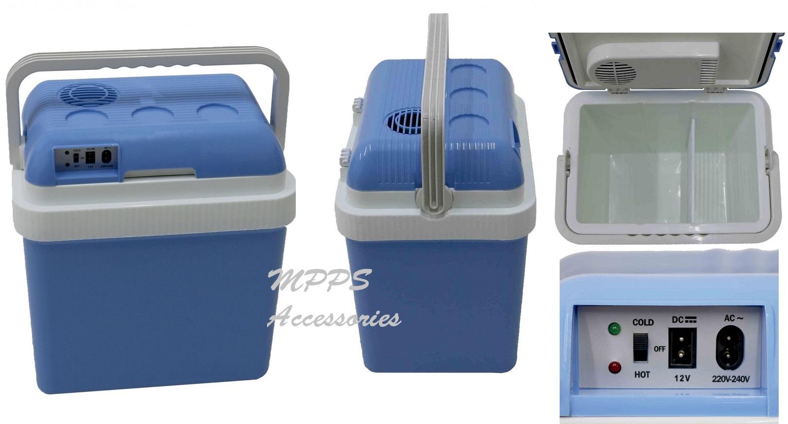 3f8a1bb54a7 24L 240V AC   12V DC Coolbox Hot Cold Portable Electric Cool Box